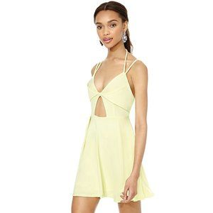 NWT Nasty Gal Yellow Out-Shine Dress w/ Stain